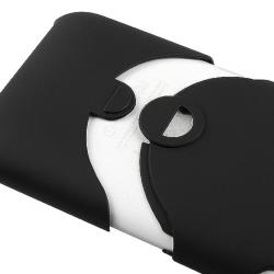 BasAcc Black/ Black Rubber Coated Case for Apple iPhone 3G/ 3GS - Thumbnail 2