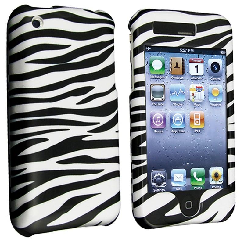 BasAcc White/ Black Zebra Snap-on Case for Apple iPhone 3G/ 3GS