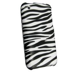 BasAcc White/ Black Zebra Snap-on Case for Apple iPhone 3G/ 3GS - Thumbnail 1