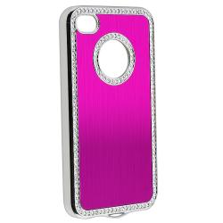 BasAcc Bling Luxury Hot Pink Snap-on Case for Apple iPhone 4/ 4S