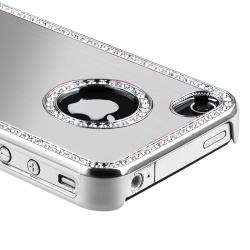 BasAcc Bling Luxury Silver Snap-on Case for Apple iPhone 4/ 4S - Thumbnail 2
