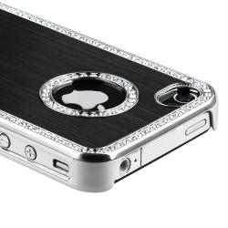 BasAcc Bling Luxury Black Snap-on Case for Apple iPhone 4/ 4S - Thumbnail 2