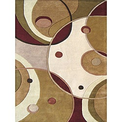 Alliyah Handmade Beige New Zealand Blend Wool Rug - 8' x 10' - Thumbnail 0