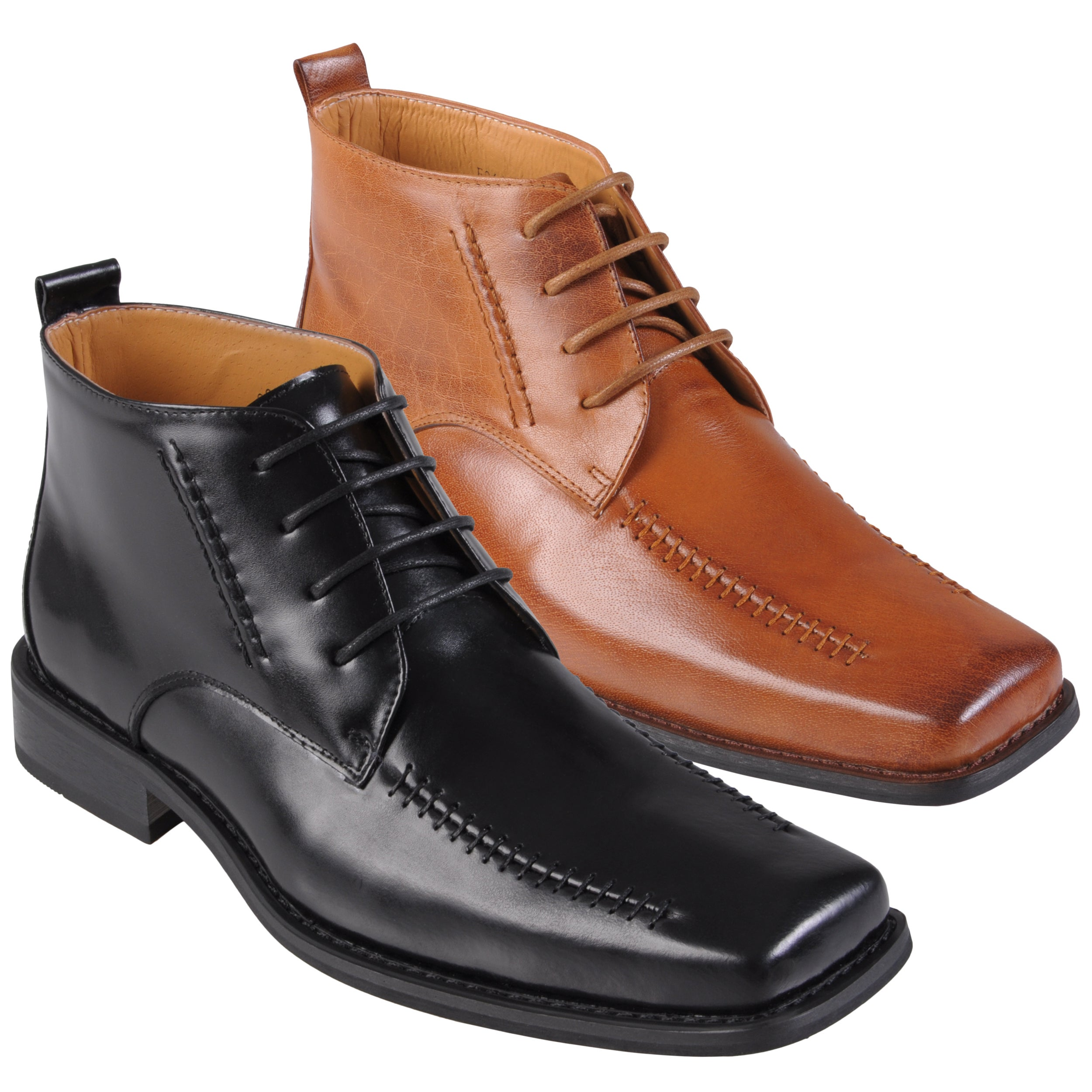 Oxford & Finch Men's Stitching Detail Leather Shoes
