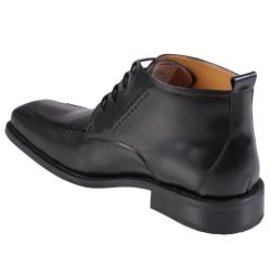 Oxford & Finch Men's Stitching Detail Leather Shoes - Thumbnail 1