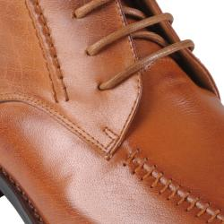 Oxford & Finch Men's Stitching Detail Leather Shoes - Thumbnail 2
