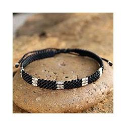 Silver Accent Bracelet 'Hill Tribe Rice' Bracelet (Thailand)