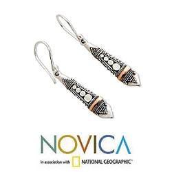 Gold Overlay 'Balinese Sisters' Earrings (Indonesia)