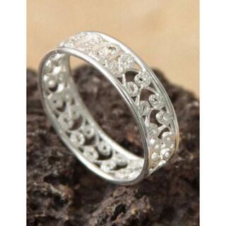 Handmade Sterling Silver 'Royal Filigree' Ring (Peru)