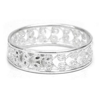 Handmade Sterling Silver 'Royal Filigree' Ring (Peru)