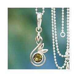 Handmade Sterling Silver 'New Growth' Citrine Necklace (India)|https://ak1.ostkcdn.com/images/products/6663990/Sterling-Silver-New-Growth-Citrine-Necklace-India-P14223141c.jpg?impolicy=medium