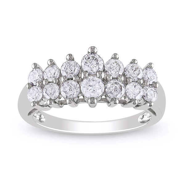 Miadora 10k White Gold 1ct TDW Round-cut Diamond Ring (H-I, I2-I3)