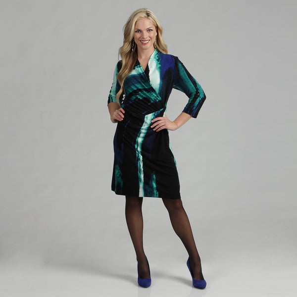Calvin Klein Women's Surplus V-neck Jersey Print Dress FINAL SALE