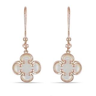 Miadora 14k Rose Gold Diamond Accent Dangle Earrings
