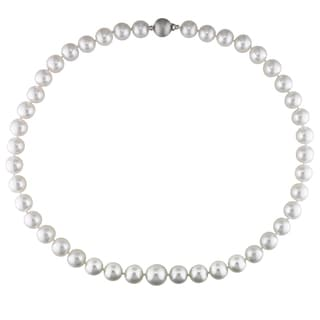 Miadora Signature Collection 14k White Gold White South Sea Pearl 18-inch Strand