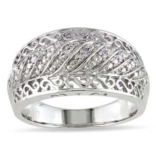 Sterling Silver Diamond Accent Design Ring