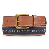 Tommy Hilfiger Men's Topstitched Leather Belt