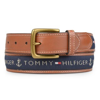 Tommy Hilfiger Men's Topstitched Leather Belt (5 options available)