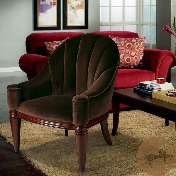 Antonio Chestnut Velvet Club Chair by Christopher Knight Home