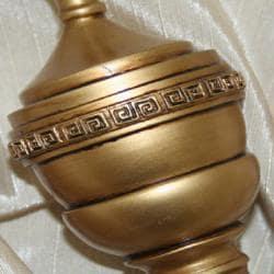 Lewis Royal Antique Gold Adjustable Curtain Rod Set