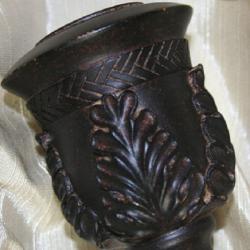 Lewis Rustic Aged Coffee Adjustable Curtain Rod Set