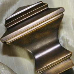 Lewis Quadrant 28 to 48-inch Oil Brown Adjustable Curtain Rod Set