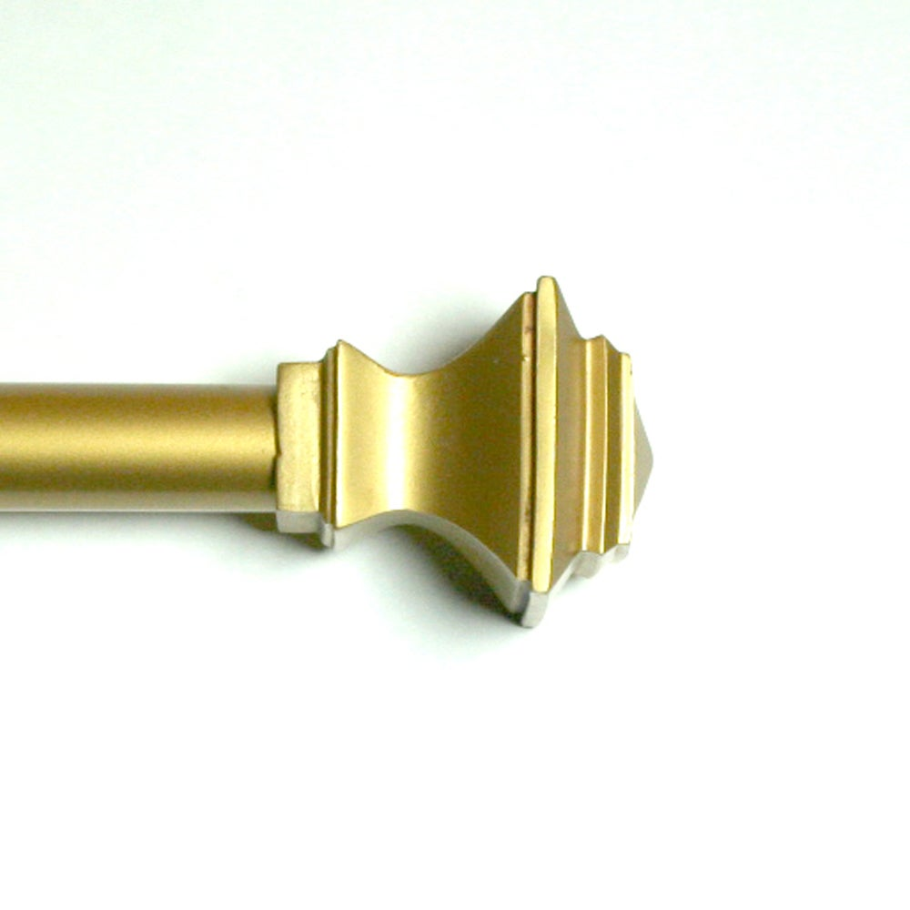 Shop Lewis Quadrant Antique Gold Adjustable Curtain Rod