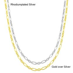Fremada Sterling Silver 18-inch Polished Mixed Link Chain