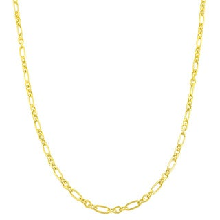 Fremada Sterling Silver 18 Inch Polished Mixed Link Chain