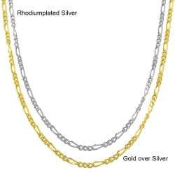 Fremada Sterling Silver 18-inch Figaro Chain