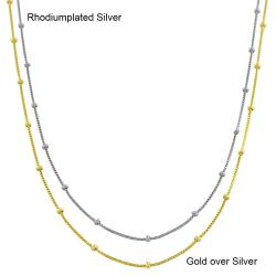 Fremada Sterling Silver 18-inch Saturn Box Chain