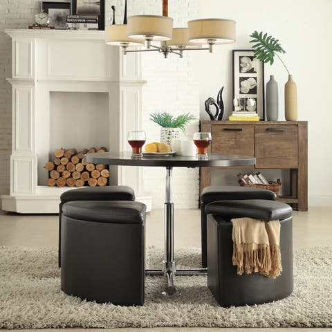 Bingley Adjule E Saver 5 Piece Tail Dining Set Inspire Q Modern