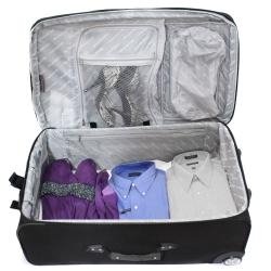 Bell + Howell Grey Quick Access 4-piece Expandable Luggage Set