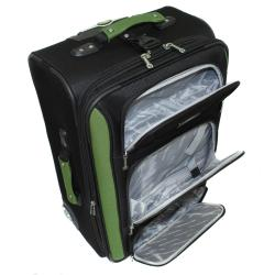 Bell + Howell Herb Green Quick Access 4-piece Expandable Luggage Set - Thumbnail 1