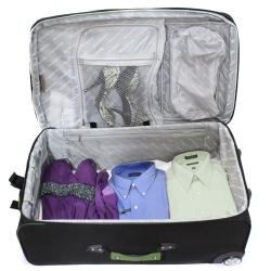 Bell + Howell Herb Green Quick Access 4-piece Expandable Luggage Set - Thumbnail 2