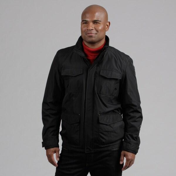 Hawke & Co. Men's Black Stand Collar Jacket