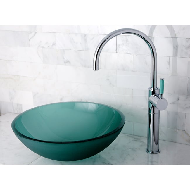 designer glass vessel sink - free shipping today - overstock