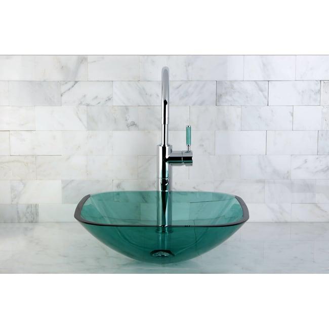Superieur Square Green Vessel Sink