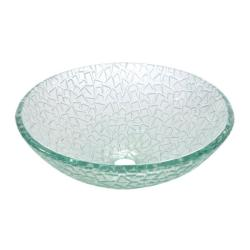 Round Tempered Glass Vessel Sink - Thumbnail 1
