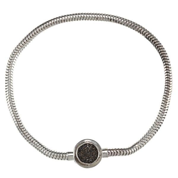 4601e63bd Shop Victoria Kay Sterling Silver 1/10ct TDW Black Diamond Circle Bracelet  - Free Shipping Today - Overstock - 6664416