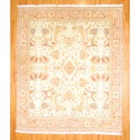 Herat Oriental Turkish Hand-knotted 1950s Semi-Antique Oushak Wool Rug (12' x 14')