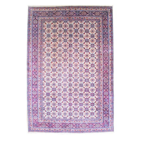 Herat Oriental Persian Hand-knotted 1950s Semi-antique Mahal Wool Rug (10'6 x 16')