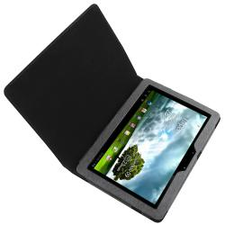 Black Leather Case with Stand for Asus Eee Pad Transformer Prime