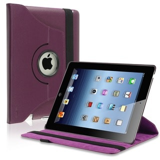 INSTEN 360-degree Swivel Leather Tablet Case Cover for Apple iPad 2 and 3