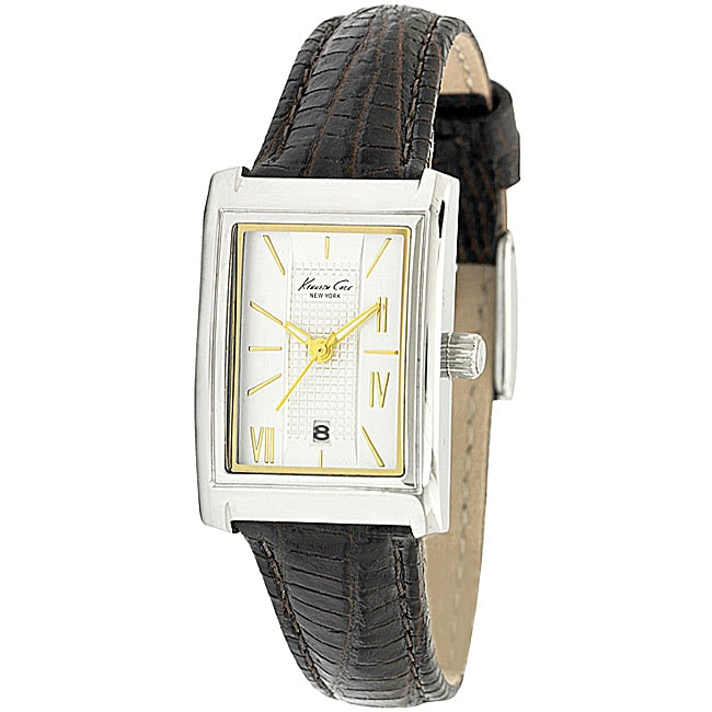 Kenneth Cole Women's Analog Brown Leather Strap Watch