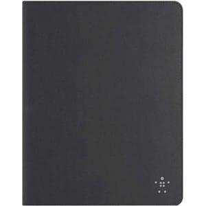Belkin Smooth Bi-Fold Carrying Case (Folio) for iPad - Blacktop, Grav