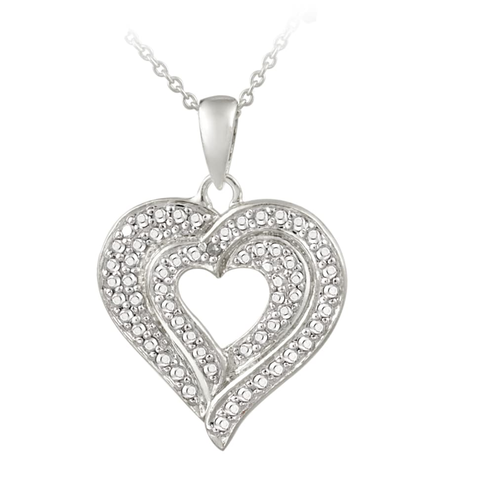 Db designs sterling silver diamond accent heart necklace free db designs sterling silver diamond accent heart necklace aloadofball