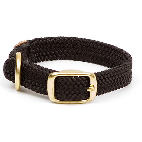 Double-Braided Black 21-Inch Pet Collar