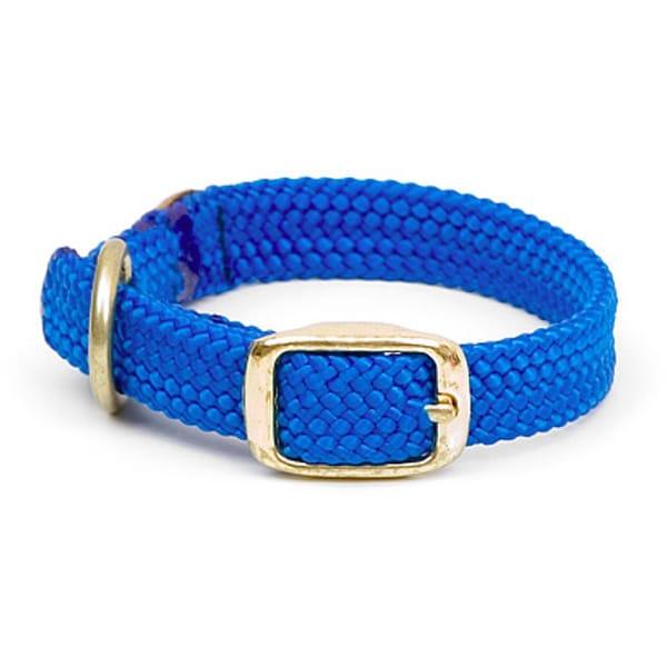 Double-Braided Nylon Junior Blue Pet Collar