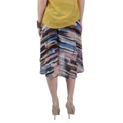 Journee Collection Juniors Multicolor Flowy Chiffon Long Tail Hem Skirt - Thumbnail 1